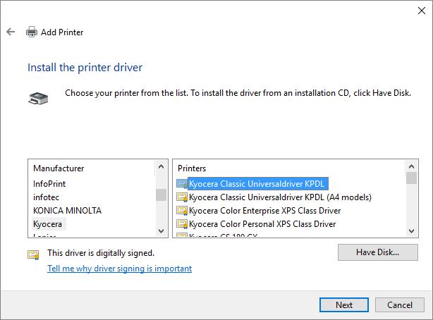 Kyocera ECOSYS FS-2100DN Printer PCL5e/PCL6/KPDL Mac