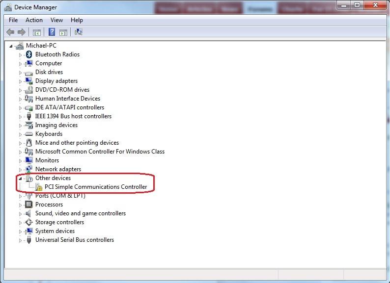 Драйвер для PCI Simple Communications Controller
